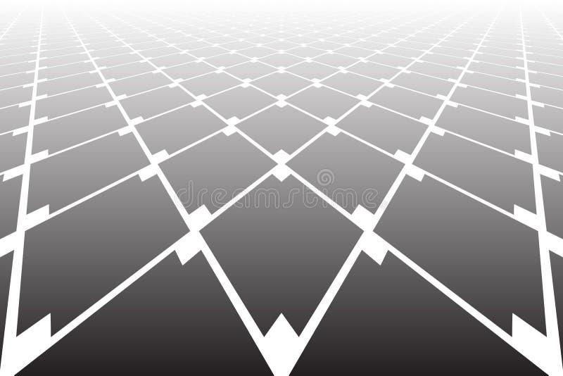 Teste padr?o geom?trico abstrato dos diamantes Perspectiva de diminui??o ilustração stock