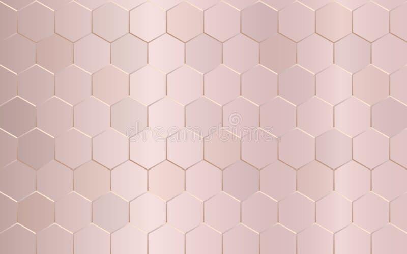 Teste padr?o geom?trico abstrato Fundo pastel cor-de-rosa da textura Estilo luxuoso Ilustra??o do vetor ilustração do vetor