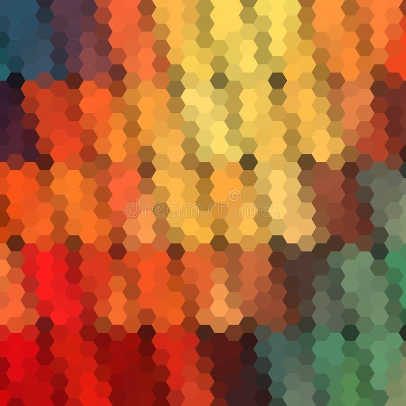 Teste padr?o geom?trico do fundo Tema do ver?o ou da mola Fundo geom?trico com lugar para seu texto Bandeira colorida do mosaico  ilustração do vetor