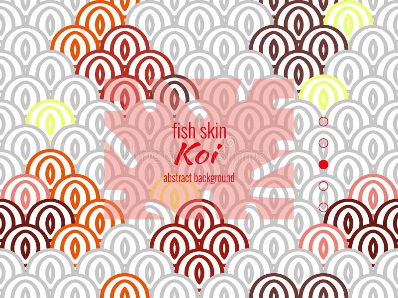 Teste padr?o oriental nacional, pele colorida dos peixes do koi da carpa Teste padrão sem emenda da carpa de Koi em cores bonitos ilustração stock