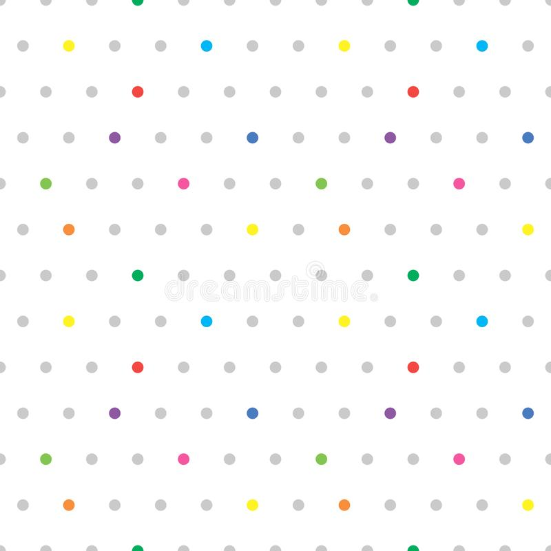 Teste padr?o pontilhado sem emenda Fundo colorido bonito do ?s bolinhas Textura abstrata com pontos Projeto gr?fico minimalistic  ilustração do vetor
