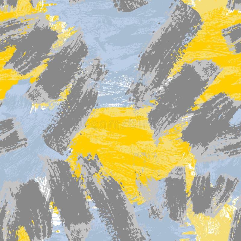 Teste padr?o sem emenda abstrato Fundo decorativo de Grunge Art Rough Stylized Texture Banner com espa?o para o texto ilustração do vetor