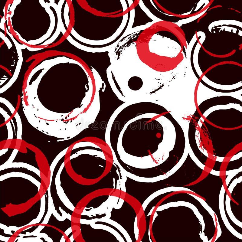 Teste padr?o sem emenda abstrato Vermelho, Borgonha, círculos do vinho cor-de-rosa ilustração do vetor