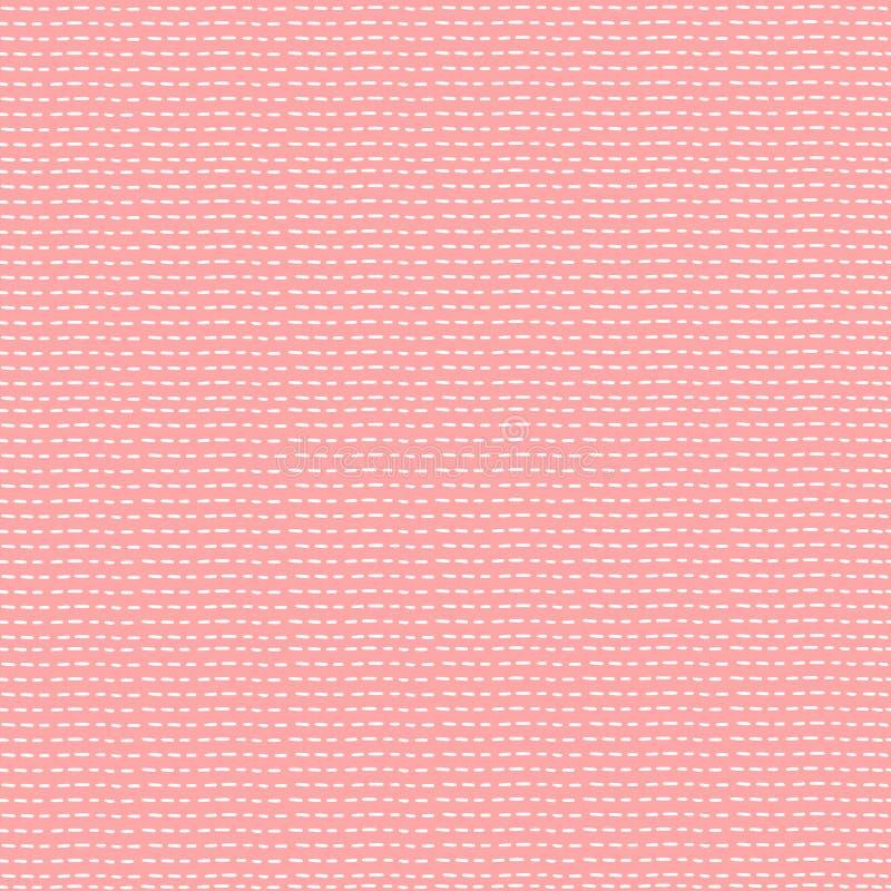 Teste padr?o sem emenda bonito simples Pontos brancos no fundo cor-de-rosa Lona pastel ilustração royalty free