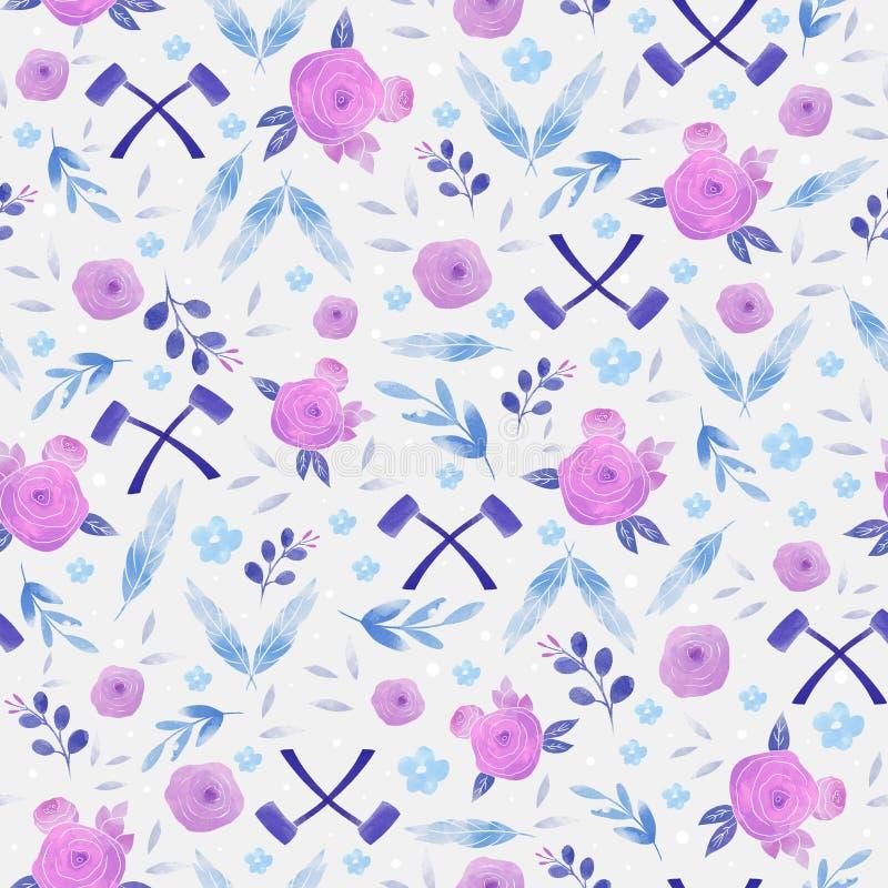 Teste padr?o sem emenda com flores e folhas Textura floral criativa fotografia de stock royalty free