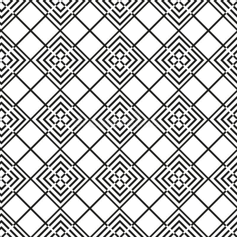 Teste padr?o sem emenda com quadrados Fundo abstrato com figuras geom?tricas Vetor EPS 10 ilustração stock