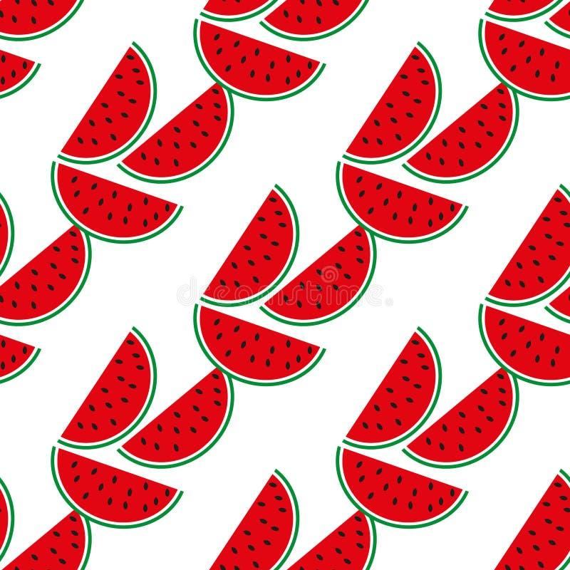 Teste padr?o sem emenda da melancia no fundo branco Ilustra??o do vetor ilustração do vetor