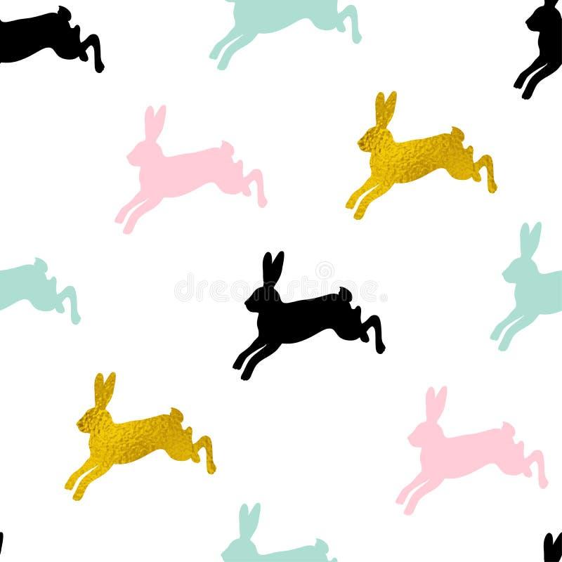 Teste padr?o sem emenda da P?scoa com coelhos ilustração do vetor
