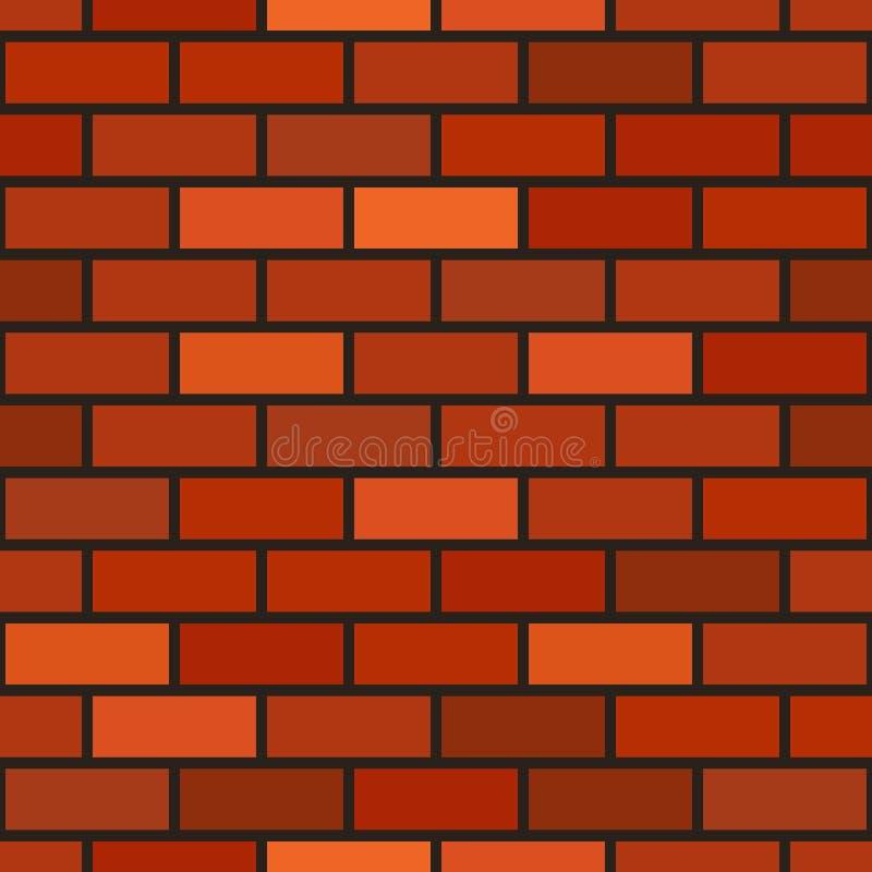 Teste padr?o sem emenda da parede de tijolo do vetor ilustração do vetor
