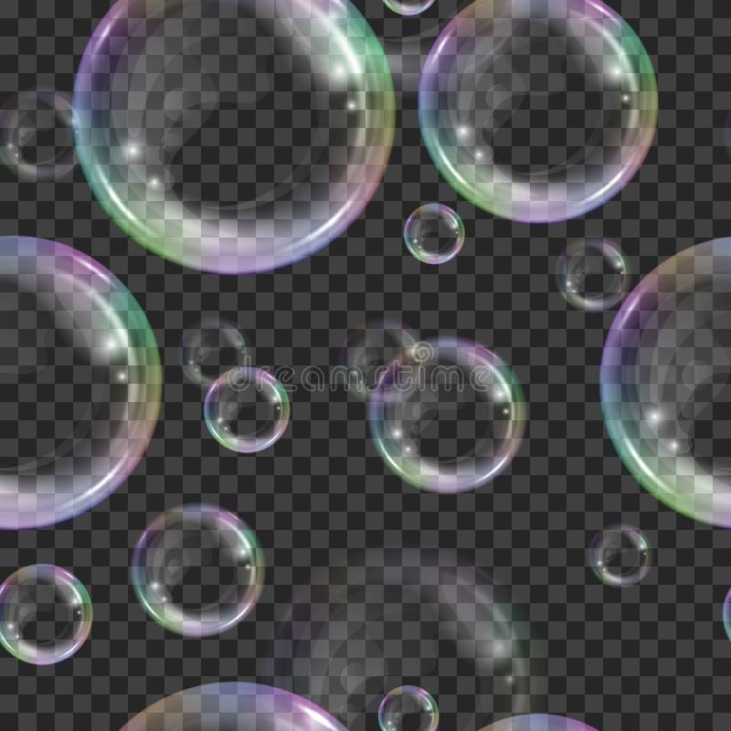 Teste padr?o sem emenda das bolhas de sab?o ilustração royalty free