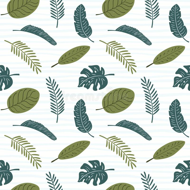 Teste padr?o sem emenda das folhas de palmeira ilustração royalty free