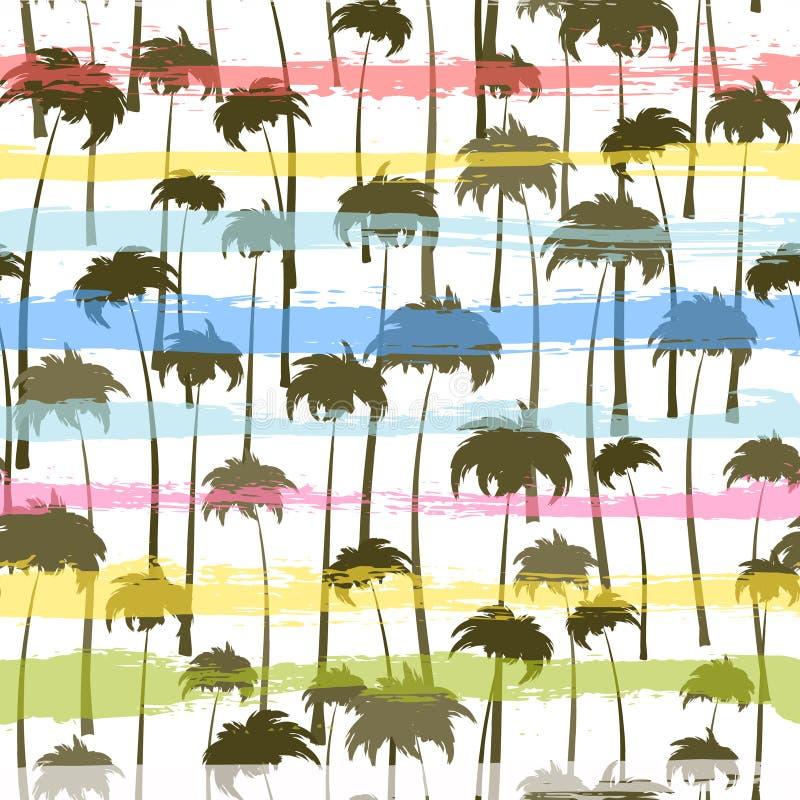 Teste padr?o sem emenda das palmeiras tropicais imagem de stock