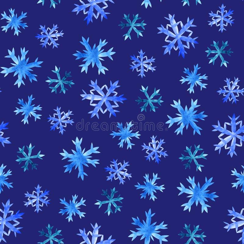 Teste padr?o sem emenda dos flocos de neve ilustração royalty free