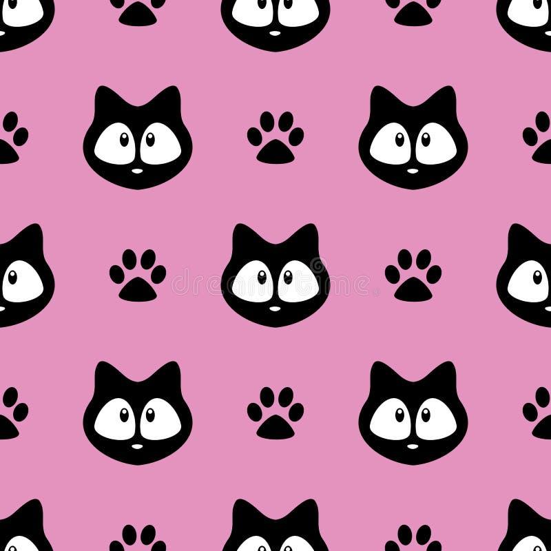 Teste padr?o sem emenda dos gatos bonitos, gatinhos pequenos, textura para pap?is de parede, tela, envolt?rio, fundos do p?gina d ilustração royalty free
