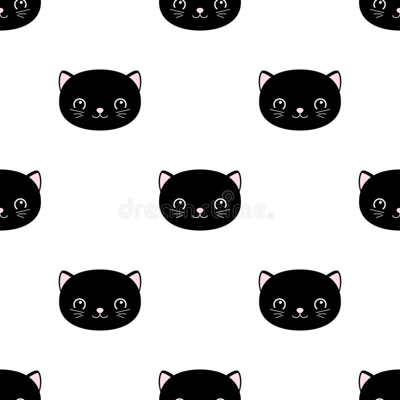 Teste padr?o sem emenda dos gatos bonitos, gatinhos pequenos, textura para pap?is de parede, tela, envolt?rio, fundos do p?gina d ilustração stock