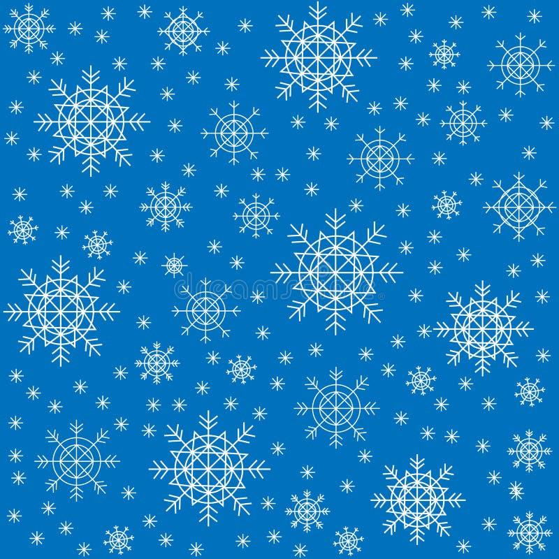Teste padr?o sem emenda Flocos de neve bonitos do inverno Apropriado como o empacotamento para presentes do Natal Cria um humor f ilustração do vetor