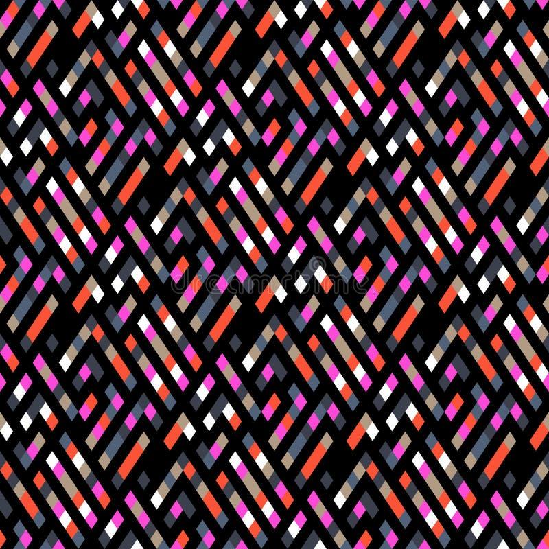 Teste padr?o sem emenda geom?trico da manta do vetor com quadrados, verifica??es ilustração stock