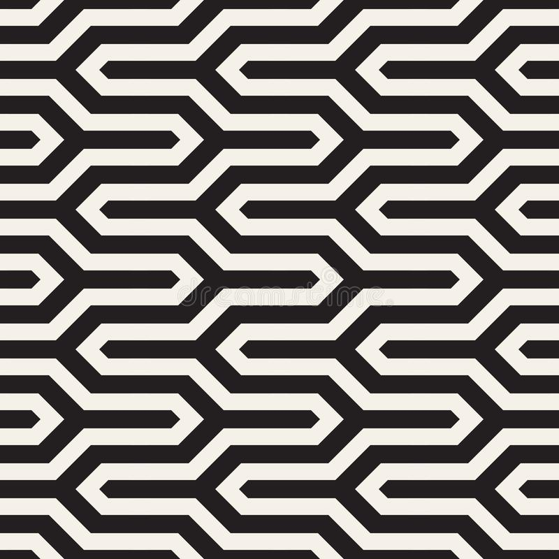 Teste padr?o sem emenda ? moda do vetor Ornamento listrado geom?trico Fundo linear simples da estrutura ilustração do vetor