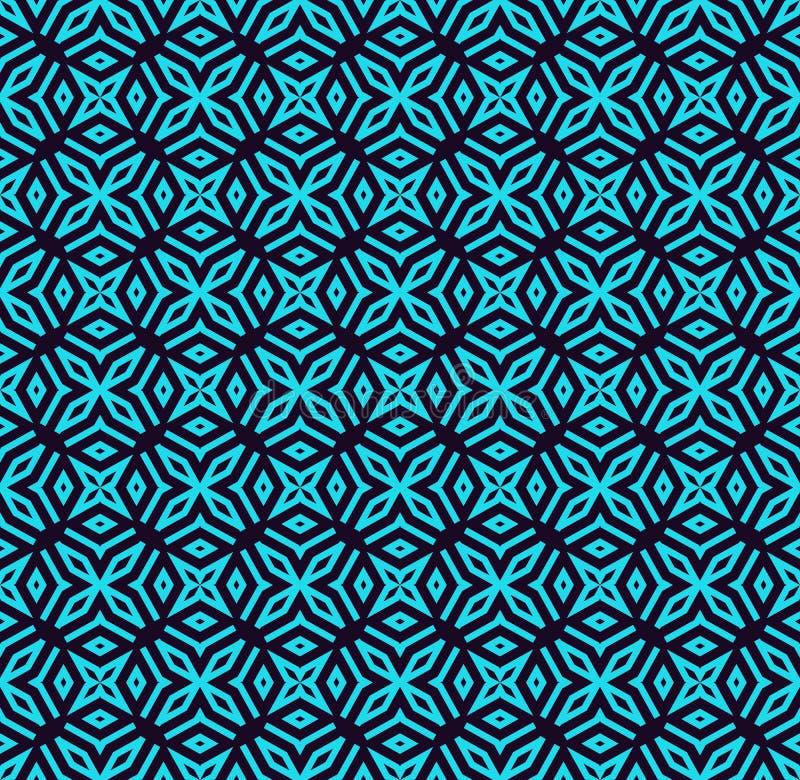 Teste padr?o sem emenda Ornamento das linhas e das ondas Fundo abstrato linear ilustração royalty free