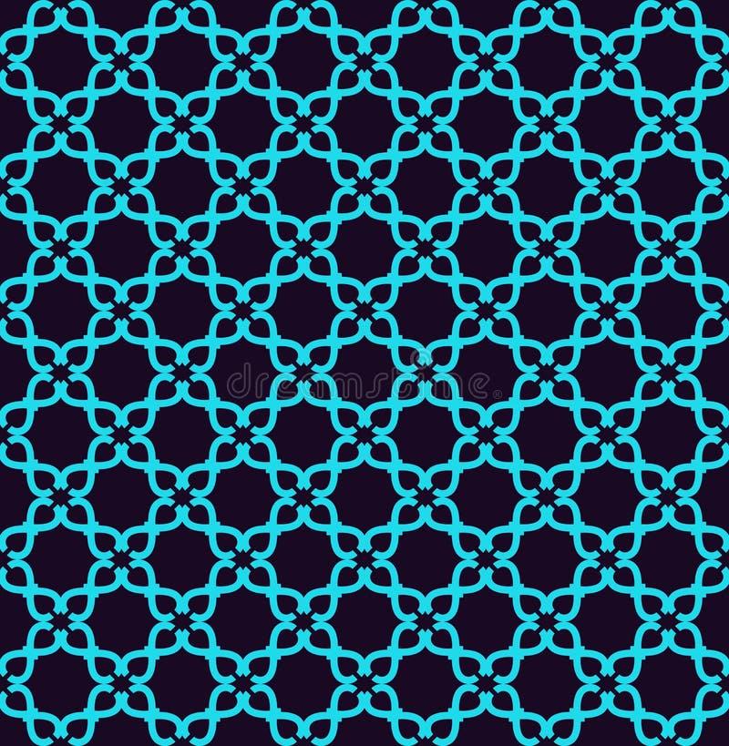 Teste padr?o sem emenda Ornamento das linhas e das ondas Fundo abstrato linear ilustração stock