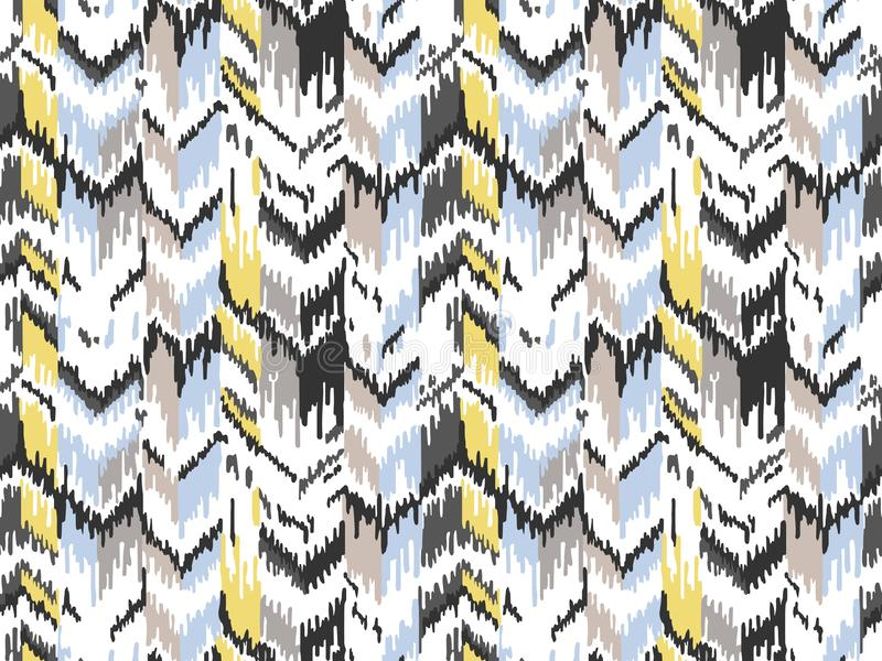 Teste padr?o sem emenda ?tnico Textura ?tnica tribal do vetor Teste padr?o listrado no estilo asteca Ornamento geom?trico do folc ilustração royalty free