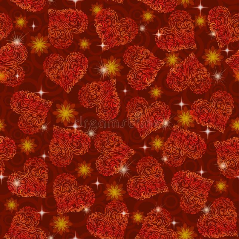 Teste padr?o sem emenda, Valentine Hearts ilustração royalty free