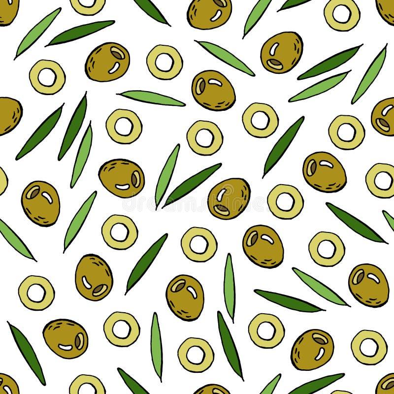 Teste padr?o verde-oliva ilustração royalty free