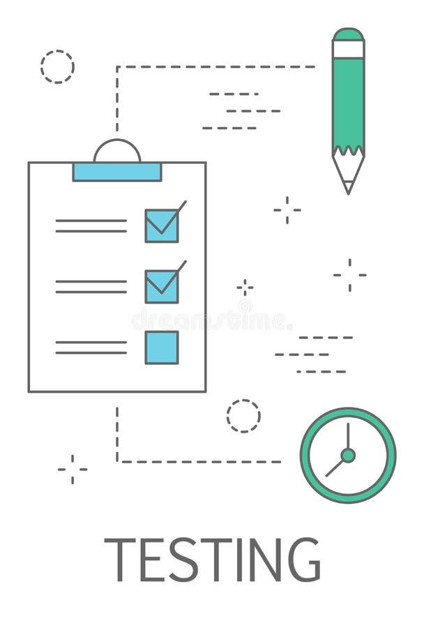 Testend Concept Internet-Web-pagina bruikbaarheidsevaluatie vector illustratie