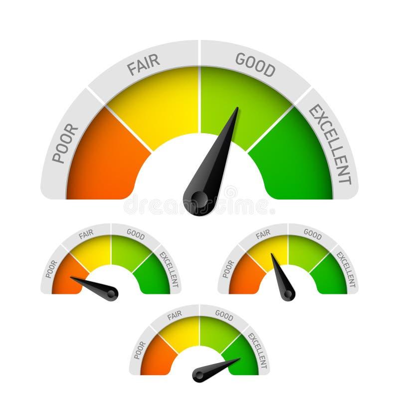 Tester di valutazione illustrazione di stock
