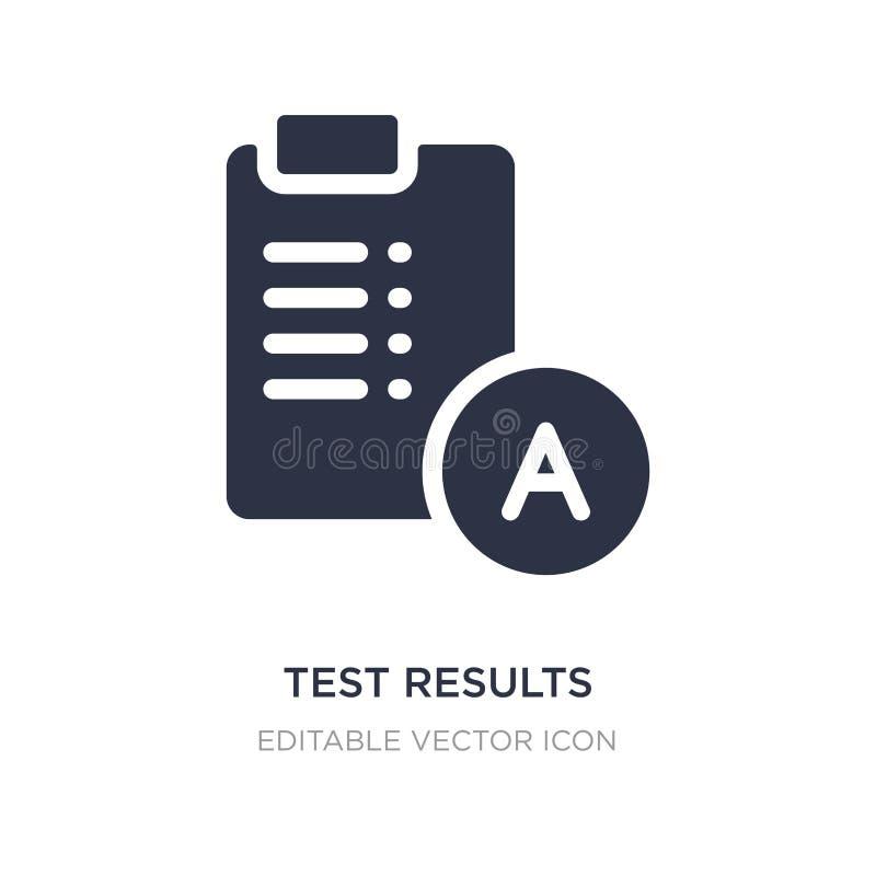 Testergebnisikone auf weißem Hintergrund Einfache Elementillustration vom Ausbildungskonzept stock abbildung