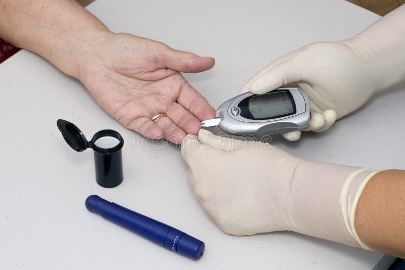 Testes do diabético fotografia de stock