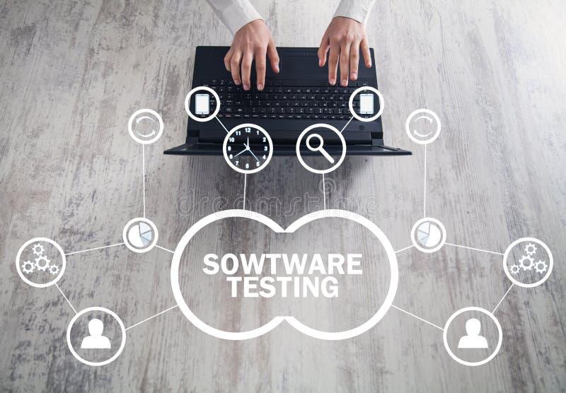Testes do software Internet, negócio, conceito da tecnologia ilustração royalty free