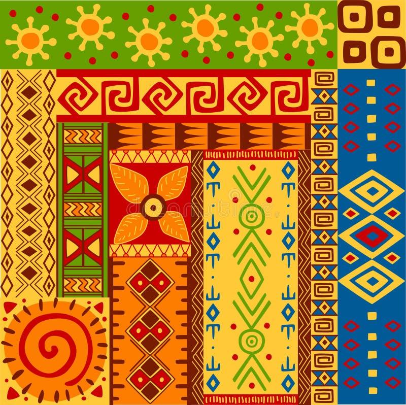 Testes padrões étnicos ilustração stock