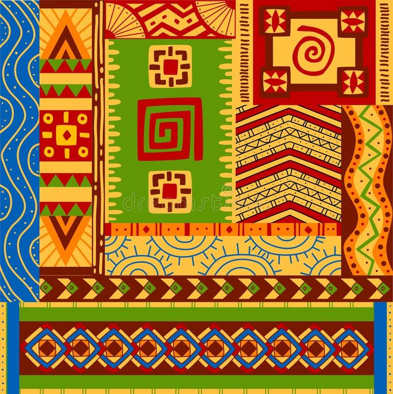 Testes padrões étnicos ilustração do vetor