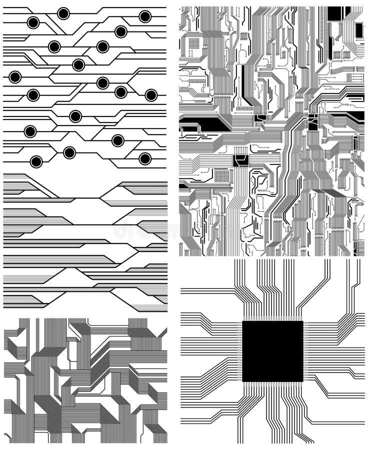 Testes padrões ilustração royalty free