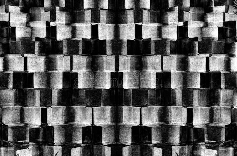 Testes padrões abstratos do tijolo com cores preto e branco ilustração royalty free
