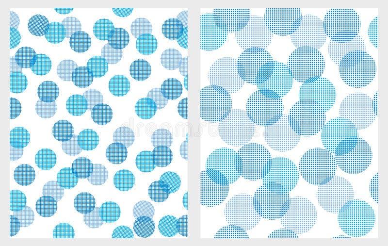 Testes padrões azuis abstratos engraçados do vetor das luzes Fundos brancos ilustração do vetor