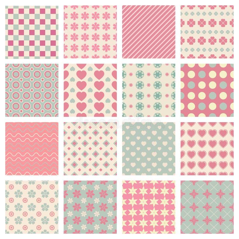 Testes padrões bonitos e na moda ilustração royalty free