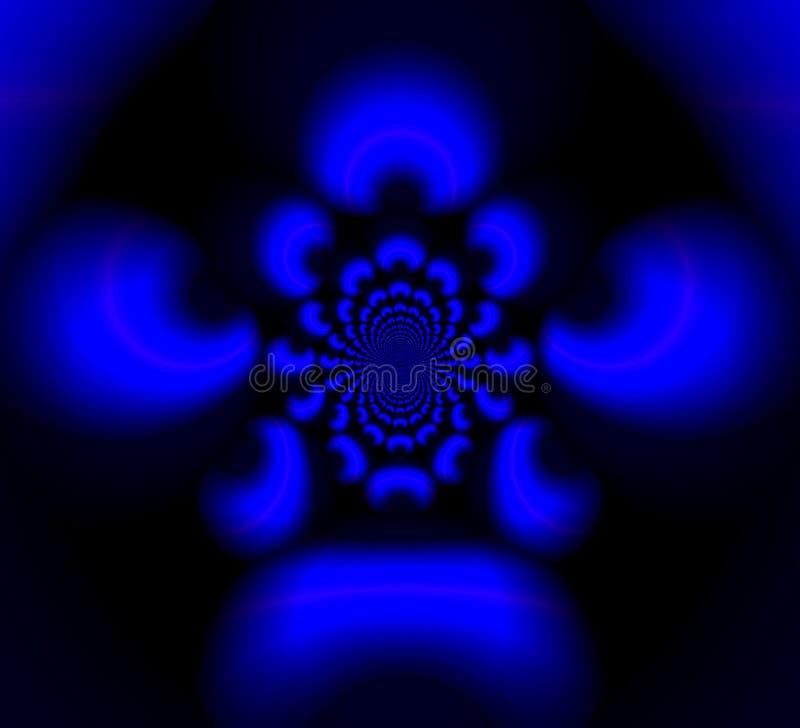 Testes padrões borrados azuis no buraco negro ilustração do vetor