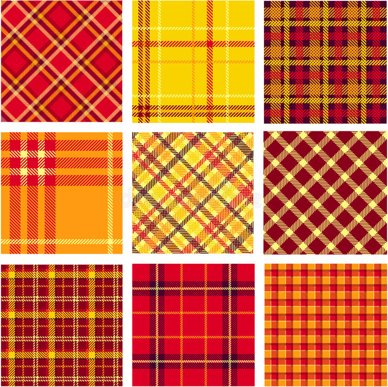 Testes padrões brilhantes da manta ajustados ilustração royalty free