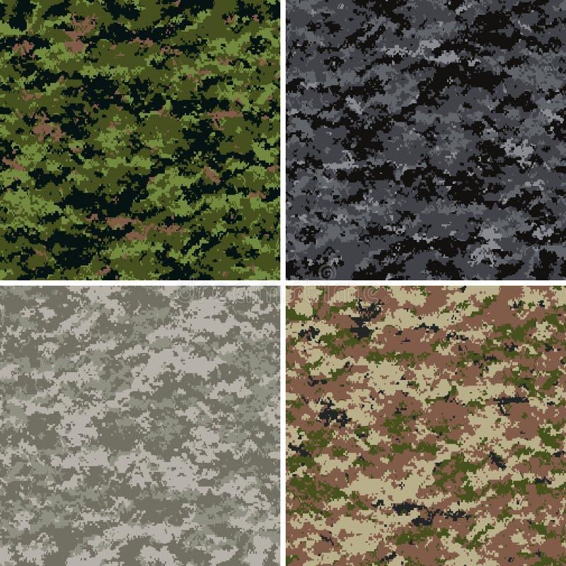 Testes padrões camuflar de Digitas ilustração stock
