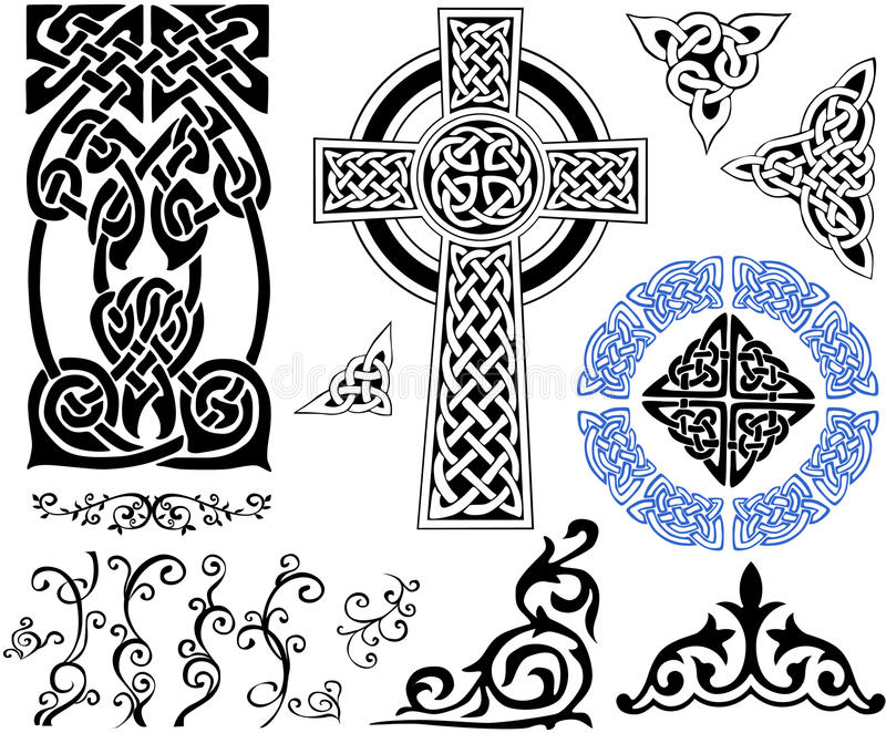 Testes padrões celtas ilustração stock