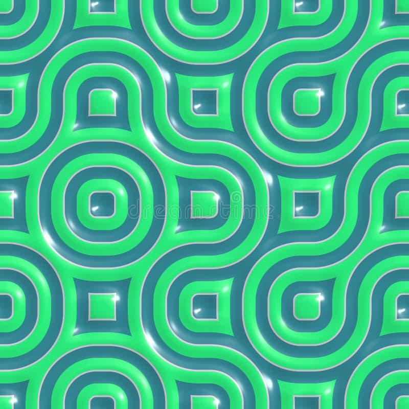 Testes padrões cerâmicos coloridos ilustração stock
