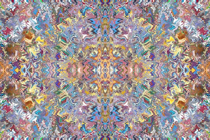 Testes padrões coloridos das telhas ilustração do vetor
