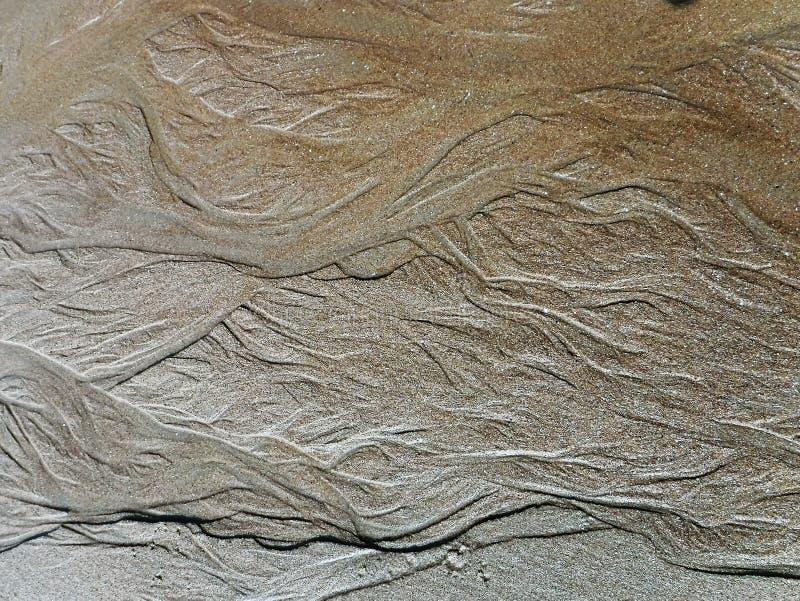 Testes padrões da areia imagens de stock