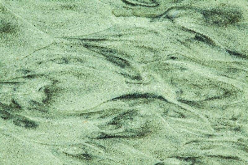 Testes padrões da areia da praia fotografia de stock