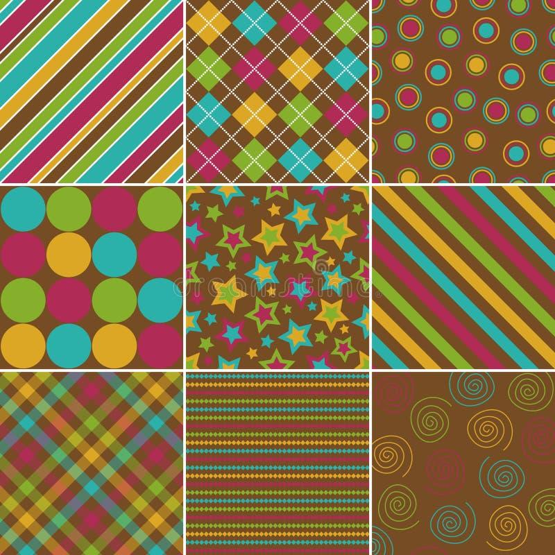 Testes padrões da cor da queda ilustração royalty free