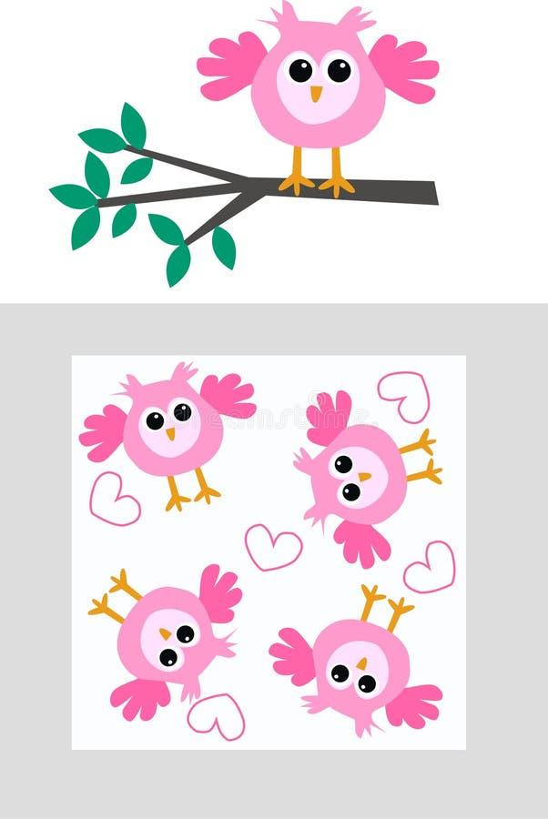 Testes padrões da coruja ilustração royalty free