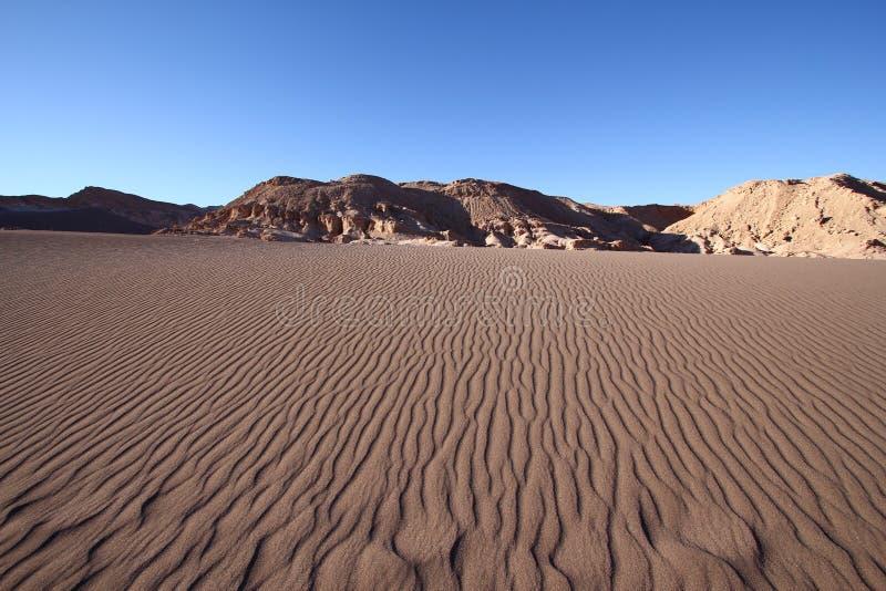 Testes padrões da ondinha e da sombra da areia fotos de stock royalty free