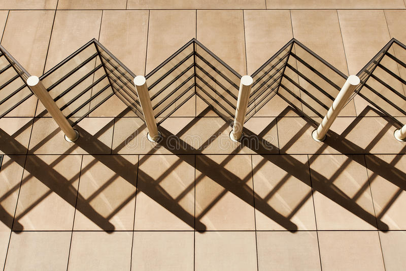 Testes padrões da sombra da arquitetura fotografia de stock